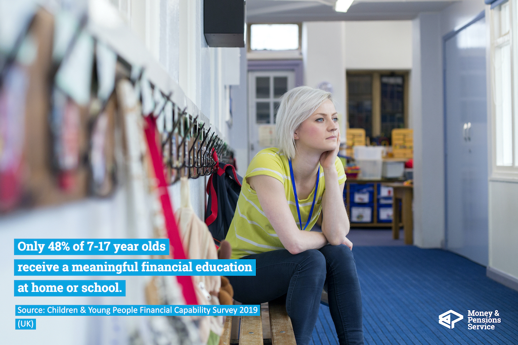 Only 48% of 7-17 year olds receive a meaningful financial education.
