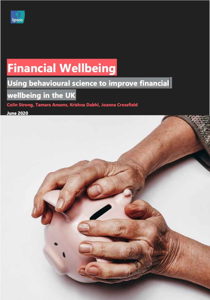 Report cover: Using behavioural science to improve financial wellbeing in the UK